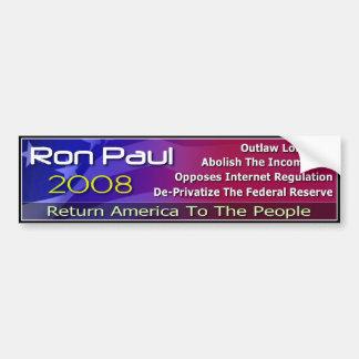 Return America To The People Bumper Sticker