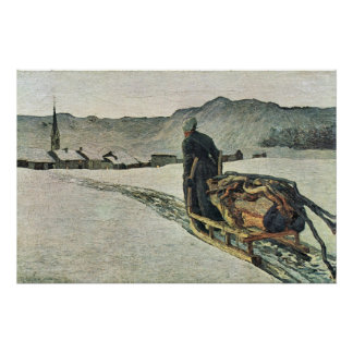 Return from the forest by Giovanni Segantini Poster
