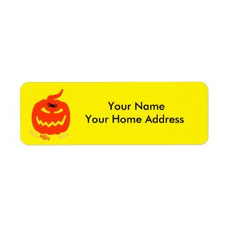 Return Label Address Label with Halloween Theme