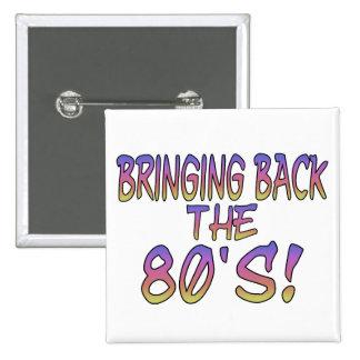 Return Of The 80's 15 Cm Square Badge