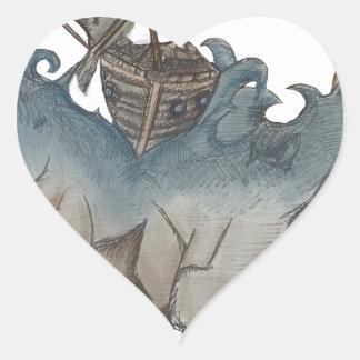 Return of The Lucky Tiger Heart Sticker