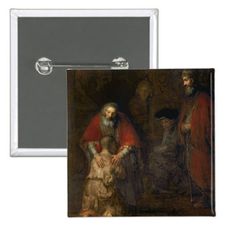 Return of the Prodigal Son, c.1668-69 15 Cm Square Badge
