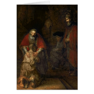 Return of the Prodigal Son, c.1668-69 Greeting Card