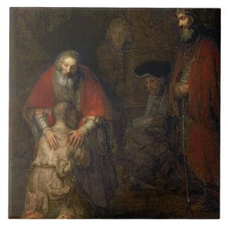 Return of the Prodigal Son, c.1668-69 Ceramic Tile