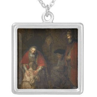 Return of the Prodigal Son, c.1668-69 Silver Plated Necklace