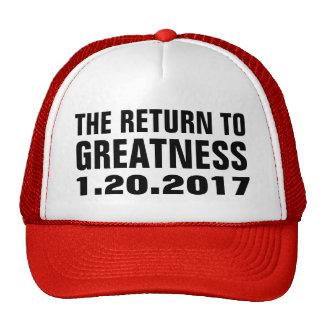 Return to Greatness 1.20.2017 Trump Inauguration Cap