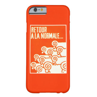 """Return to Normal"" Vintage '68 French Protest Barely There iPhone 6 Case"