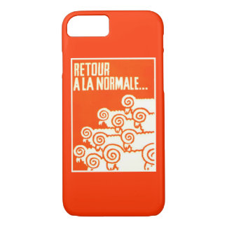 """Return to Normal"" Vintage '68 French Protest iPhone 7 Case"