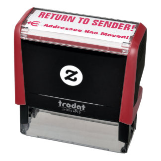 """RETURN TO SENDER!"" ""Addressee Has Moved!"" + Arrow Self-inking Stamp"