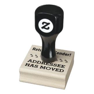 """Return to Sender!"", ""ADDRESSEE HAS MOVED"" Rubber Stamp"
