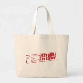"""""""RETURN TO SENDER"""" stamp in red Bags"""