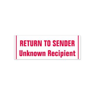"""""""RETURN TO SENDER"""", """"Unknown Recipient"""", Lines Self-inking Stamp"""