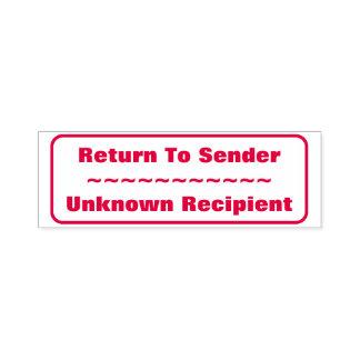 """Return To Sender, ""Unknown Recipient"", Rectangle Self-inking Stamp"