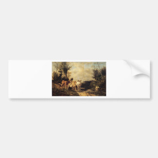 Returning From Pasture by Constant Troyon Bumper Sticker
