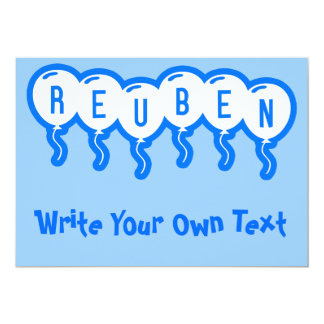 Reuben 13 Cm X 18 Cm Invitation Card