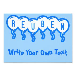 "Reuben 5"" X 7"" Invitation Card"