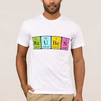 Reuben periodic table name shirt