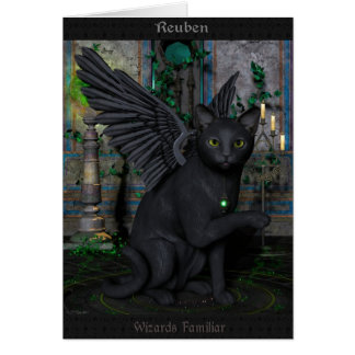 Reuben Wizards Familliar Card