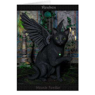 Reuben Wizards Familliar Greeting Card