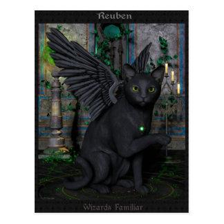 Reuben Wizards Familliar Postcard