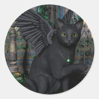 Reuben Wizards Familliar Round Sticker