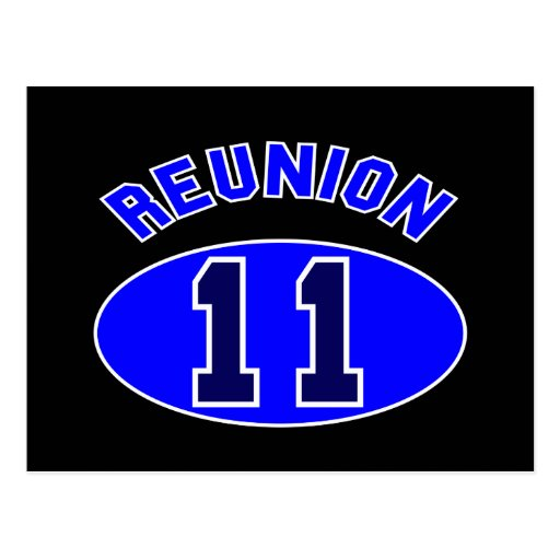 Reunion 2011 in Blue Post Card