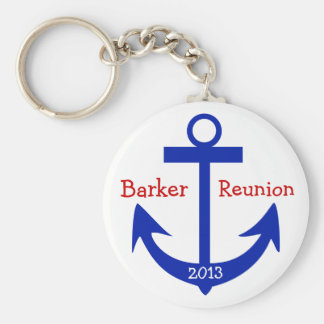 Reunion Anchor - by SRF Basic Round Button Key Ring