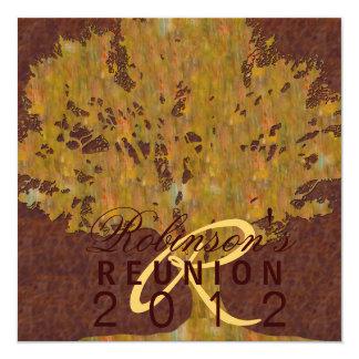 """Reunion 5.25"""" Square Invitation Card"""