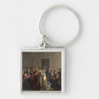 Reunion of Artists in the Studio of Isabey, 1798 Key Chains