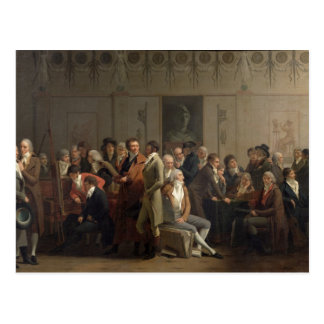 Reunion of Artists in the Studio of Isabey, 1798 Postcard