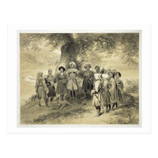 Reunion of Tcherkesse Princes, Sodja Valley, on th Postcard