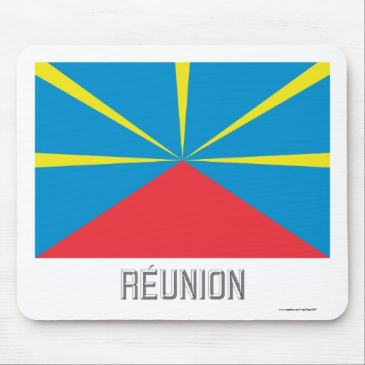 Réunion proposed flag with name mousepad