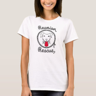 Reunion Rescue Ladies White Baby Doll Tee