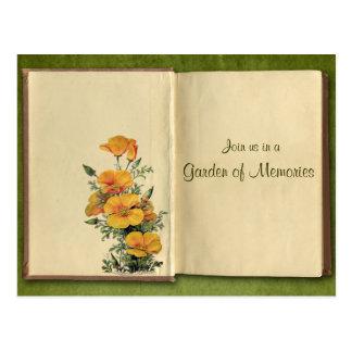 Reunion Save the Date Antique Book Invitation Postcard