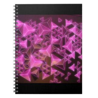 Reunion Tower Pink Lights Spiral Notebook