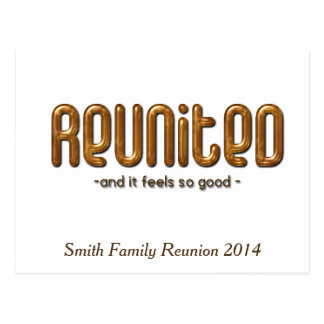Reunited Custom Family Reunion Postcard