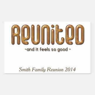Reunited Custom Family Reunion Rectangular Sticker