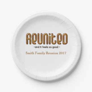 Reunited Family Reunion Paper Plate