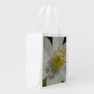 Reusable bag beautiful white flower