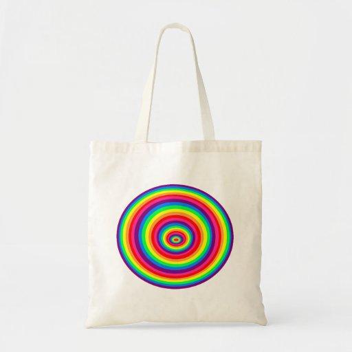Reusable bag psychedelic reason rainbow