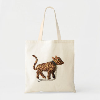 Reusable chained leopard by Valxart Canvas Bag