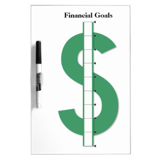 Reusable Financial Goals Dry-Erase Whiteboards