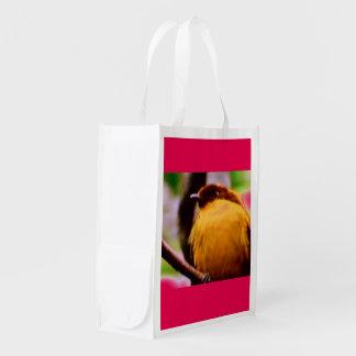 REUSABLE GROCERY BAG - BIRD ON A BRANCH