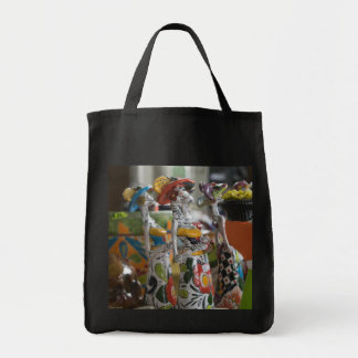 Reusable grocery shopping bag with Day of the Dead