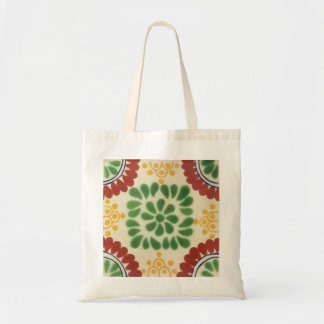 Reusable grocery shopping bag with talavera tiles