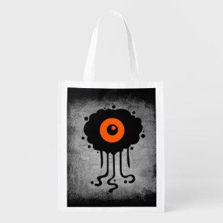 Reusable Halloween Alien Cyclops Treat Bag