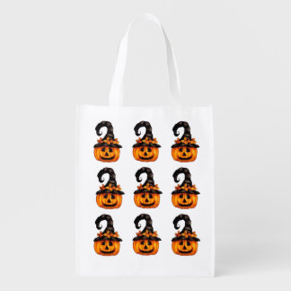 Reusable Halloween Pumpkins Treat Bag