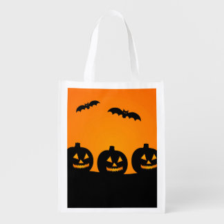 Reusable Halloween Pumpkins Treat Bag