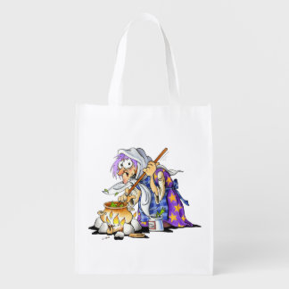 Reusable Halloween Treat Bags With Purple Witch