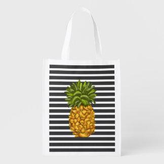 Reusable Pineapple Grocery Tote Bag